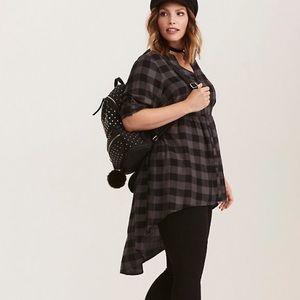 | Torrid | Lexie-Checkered Challis Tunic. Size 2.
